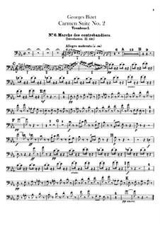 Second Suite: parte de trombones e tubas by Georges Bizet