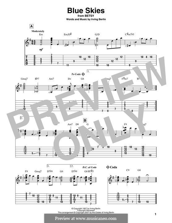 Blue Skies: Para Guitarra by Irving Berlin