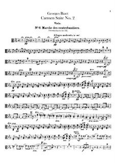 Second Suite: parte viola by Georges Bizet