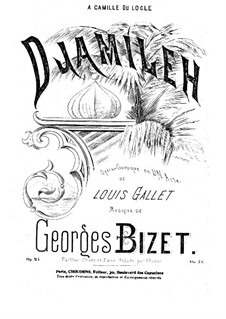 Djamileh: Partitura piano-vocal by Georges Bizet