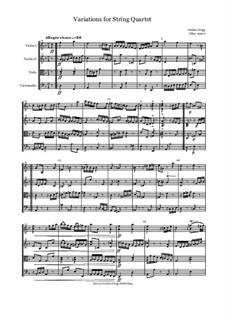 Variations for String Quartet: Variations for String Quartet by Jordan Grigg