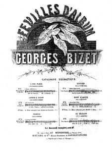 Feuilles d'album (Album Leaves): Feuilles d'album (Album Leaves) by Georges Bizet