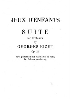 Petite Suite for Orchestra: partitura completa by Georges Bizet