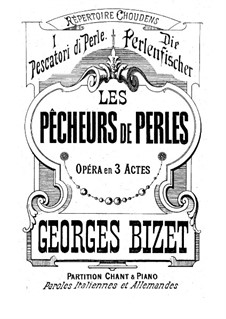 Complete Opera: Act I piano-vocal score by Georges Bizet
