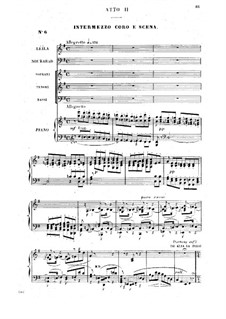 Complete Opera: Act II piano-vocal score by Georges Bizet