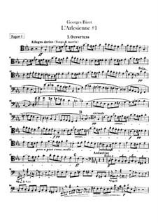 Suite I: parte fagotes by Georges Bizet