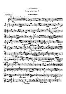 Suite I: parte trompas by Georges Bizet