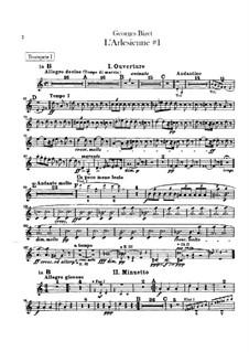 Suite I: parte trompetas by Georges Bizet