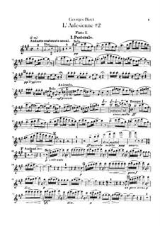 Suite II: parte de flautas by Georges Bizet