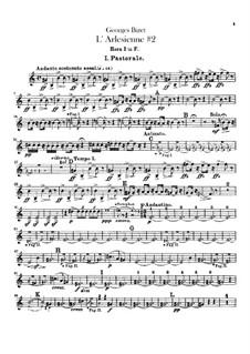 Suite II: parte trompas by Georges Bizet