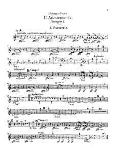 Suite II: parte trompetas by Georges Bizet