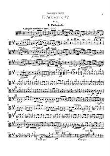 Suite II: parte viola by Georges Bizet