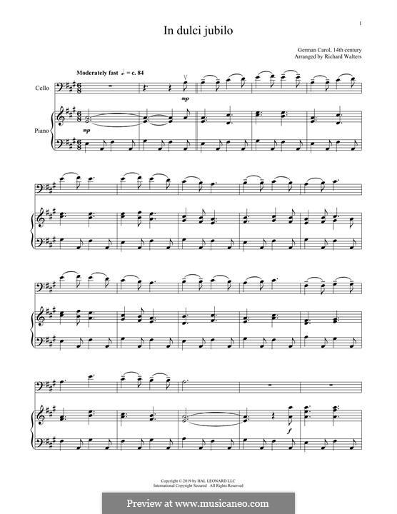 In dulci jubilo: para Violoncelo e piano by folklore