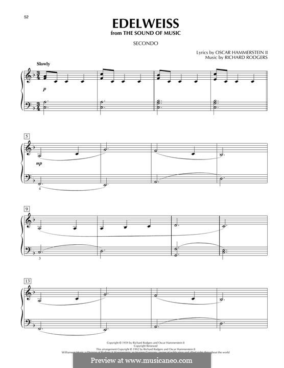Edelweiss (from The Sound of Music): Para Piano by Richard Rodgers