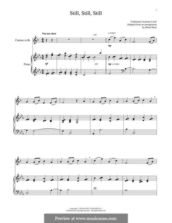 Still, Still, Still: para clarinete e piano by folklore