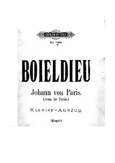 Jean de Paris: Partitura Piano-vocal by Adrien Boieldieu