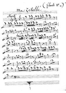 Le calife de Bagdad: Ma Zetulbé – flute I part by Adrien Boieldieu