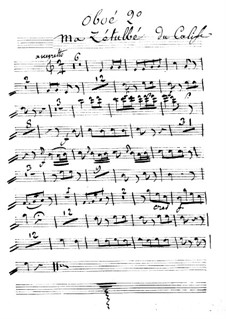 Le calife de Bagdad: Ma Zetulbé – oboe II part by Adrien Boieldieu