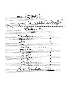Le calife de Bagdad: Ma Zetulbé – violin I part by Adrien Boieldieu
