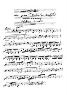 Le calife de Bagdad: Ma Zetulbé – violin II part by Adrien Boieldieu