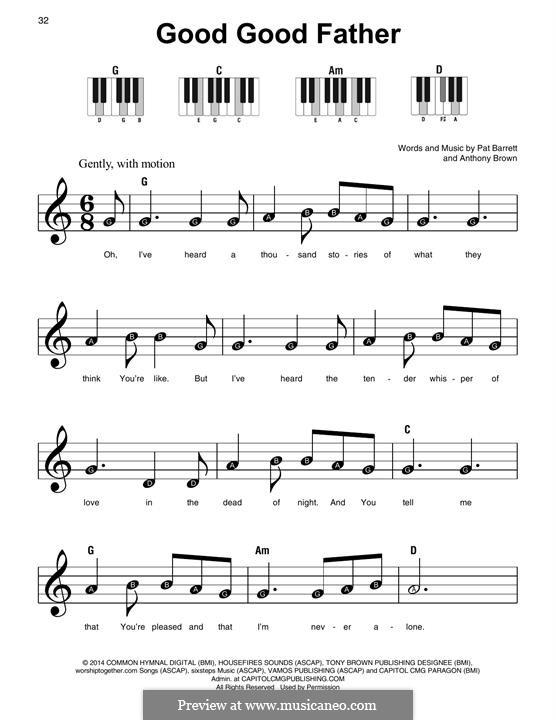 Good Good Father (Chris Tomlin): Facil para o piano by Anthony Brown, Pat Barrett
