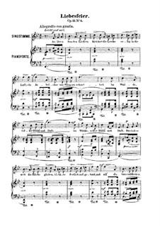 Six Songs, Op.21: Nr.4 Liebesfeier by Robert Franz