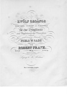 Twelve Songs, Op.4: livro II by Robert Franz