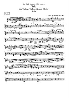 Trio for Violin, Cello and Piano No.5 'Ghost', Op.70 No.1: parte do violino by Ludwig van Beethoven