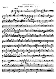 Leonore. Overture No.3, Op.72b: oboes parte I-II by Ludwig van Beethoven