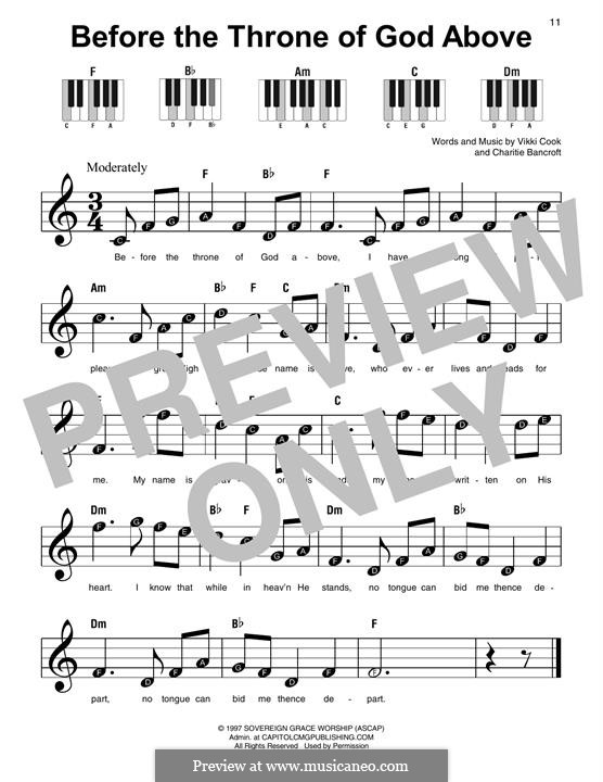 Before the Throne of God Above: Para Piano by Vickie Cook