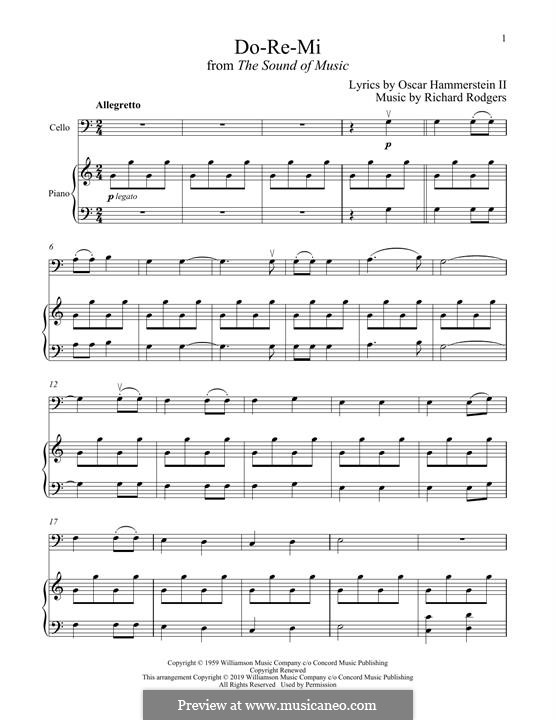 Do-Re-Mi (from The Sound of Music): para Violoncelo e piano by Richard Rodgers