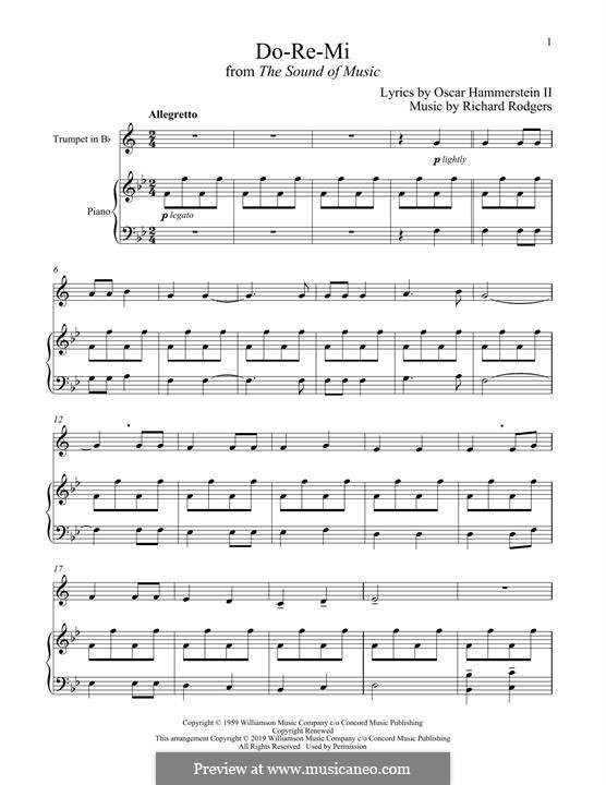 Do-Re-Mi (from The Sound of Music): para trompeta e piano by Richard Rodgers