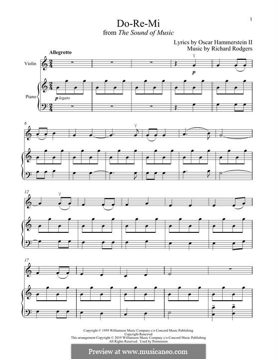 Do-Re-Mi (from The Sound of Music): para violino by Richard Rodgers