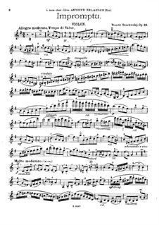 Impromptu for Violin and Piano, Op.22: Parte de solo by Vasily Bezekirsky