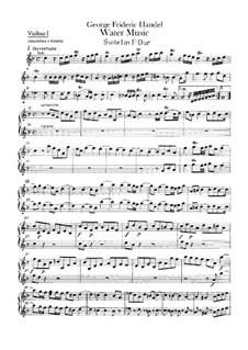 Complete Cycle, HWV 348-350: violinos parte I by Georg Friedrich Händel
