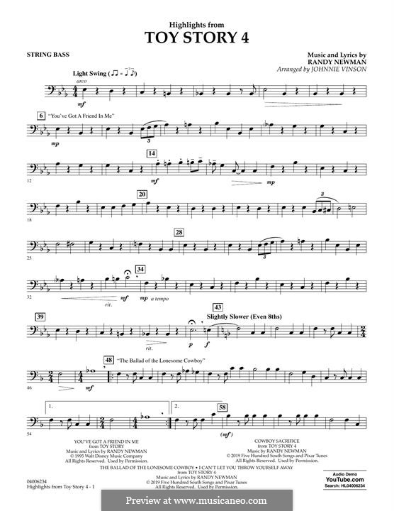 Highlights from Toy Story 4: String Bass part by Randy Newman