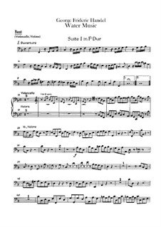 Complete Cycle, HWV 348-350: parte basso continuo by Georg Friedrich Händel