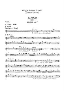 Complete Opera: parte de flautas by Georg Friedrich Händel