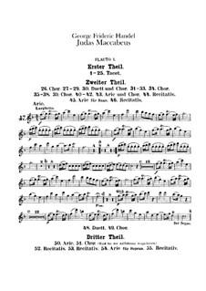 Judas Maccabaeus, HWV 63: Flautas I-II, partes by Georg Friedrich Händel