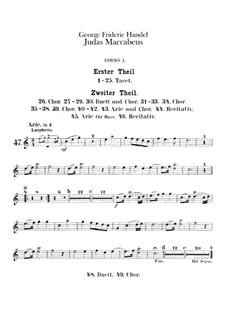 Judas Maccabaeus, HWV 63: trompa parte I-II by Georg Friedrich Händel