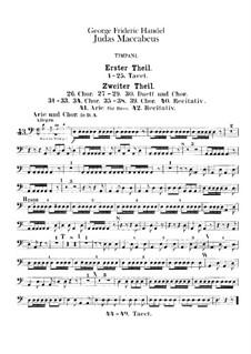 Judas Maccabaeus, HWV 63: Peça para Timpano by Georg Friedrich Händel