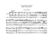 Judas Maccabaeus, HWV 63: parte orgão by Georg Friedrich Händel