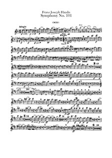 Symphony No.101 in D Major 'The Clock', Hob.I/101: parte de oboes by Joseph Haydn