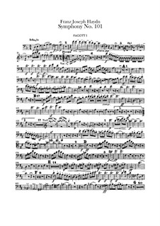 Symphony No.101 in D Major 'The Clock', Hob.I/101: parte fagotes by Joseph Haydn