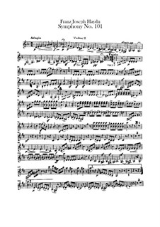 Symphony No.101 in D Major 'The Clock', Hob.I/101: violino parte II by Joseph Haydn