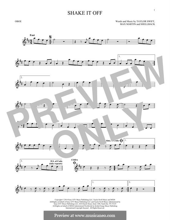 Shake it Off: For oboe by Shellback, Max Martin, Taylor Swift