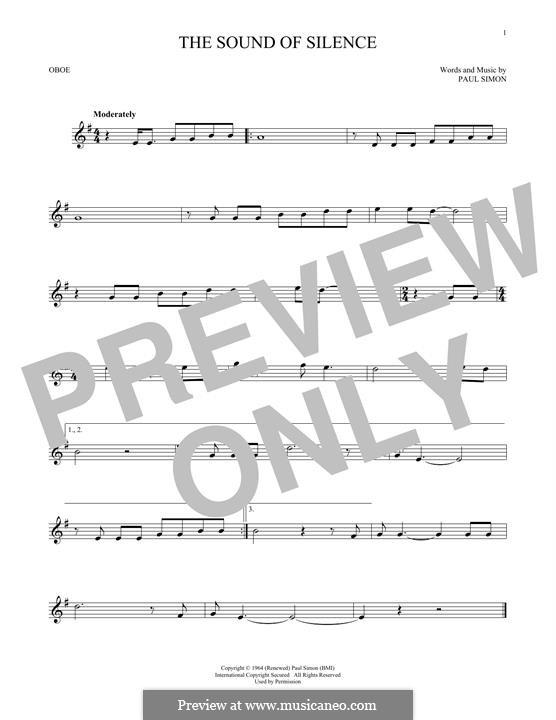 The Sound of Silence (Simon & Garfunkel): For oboe by Paul Simon