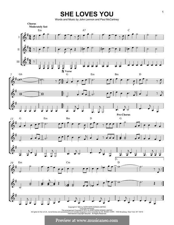 She Loves You (The Beatles): Para Guitarra by John Lennon, Paul McCartney