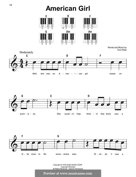 American Girl: Facil para o piano by Tom Petty