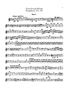 Symphony No.83 in G Minor 'The Hen', Hob.I/83: parte de oboes by Joseph Haydn